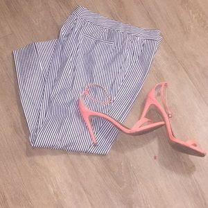 J. Crew striped ankle pants
